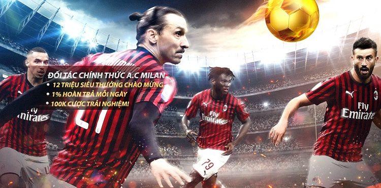 VWIN là đối tác chính thức của CLB AC Milan - Serie A