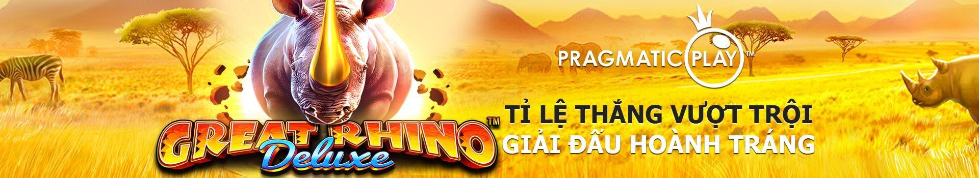 vwin giới thiệu Slot Game Great Rhino Deluxe – Trò chơi PP