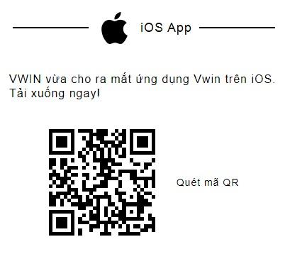 Cách tải Ứng dụng Vwin trên điện thoại di động sử dụng hđh iOS