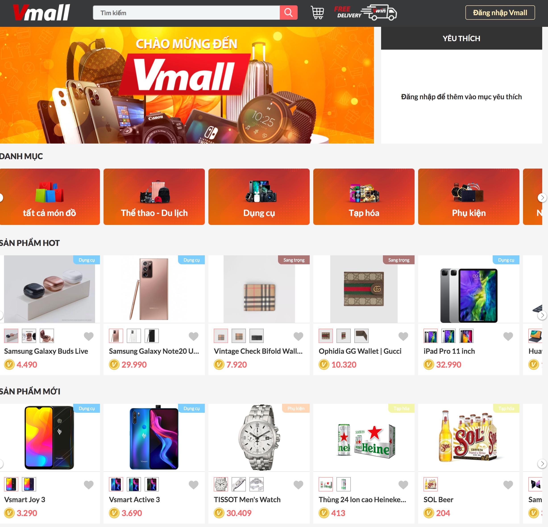 Vwin giới thiệu tính năng mới : Vmall