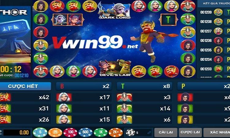 Xổ số Vwin giới thiệu trò chơi Arcade Game mới : THOR