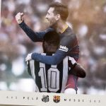 "Messi cân bằng kỷ lục của ""Vua"" Pele"