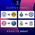 Kết quả bốc thăm tứ kết C1: Liverpool đụng Real, Bayern chiến PSG