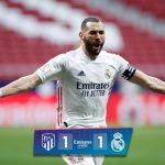 Kết quả Atletico vs Real Madrid: Benzema giải cứu Kền kền trắng