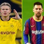 Haaland nhấn nút 'theo dõi' Messi giữa tin đồn gia nhập Barca