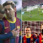Messi từ bỏ cơ hội lập hat-trick, nhường Griezmann ghi bàn