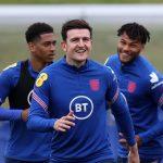 Harry Maguire tái xuất trên sân tập tuyển Anh