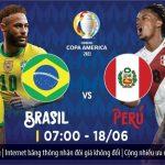 Trực tiếp bóng đá Brazil vs Peru, 7h ngày 18/6 | Copa America
