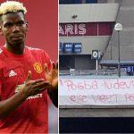 CĐV PSG giăng biểu ngữ phản đối Paul Pogba
