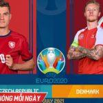 Trực tiếp CH Séc vs Đan Mạch, tứ kết EURO 2020