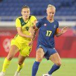 Trực tiếp Bóng đá nữ Olympic 2021 Úc vs Thụy Điển 18h ngày 2/8