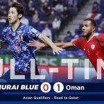 Video bóng đá Nhật Bản 0-1 Oman: Vòng loại World Cup 2022